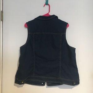 Avenue Jackets & Coats - Avenue Jean Vest with gem buttons